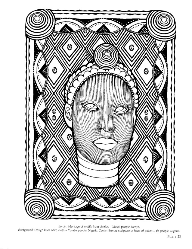 african design coloring pages - photo#8